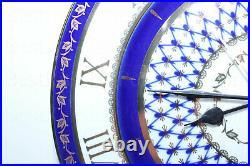 RUSSIAN Imperial Lomonosov Porcelain Watch Cobalt Net Decorative Clock Gold