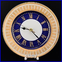 RUSSIAN Imperial Lomonosov Porcelain Watch Moscow Stars Decorative Clock Gold