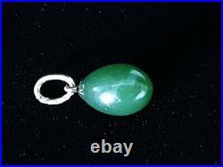 Rare Antique Imperial Russian Gold Siberian Nephrite Jade Hardstone Egg Pendant