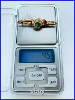 Rare Antique Imperial Russian Rose Gold 56 14K Pin Brooch Women's Jewelry 4.5 gr