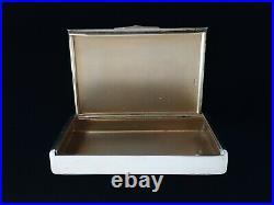 Rare Antique MOROZOV Imperial Russian Silver 14K Gold Sapphire Cigarette Case RU
