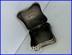 Rare Imperial Russian 84 Silver Powder box with Gold Faberge design
