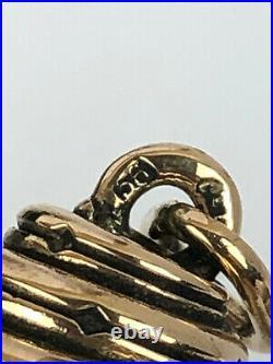 Rare Imperial Russian Faberge 14k Gold 56 Jade Egg Snake Pendant Kollin 1895's
