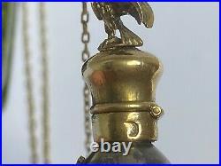 Rare Imperial Russian Faberge 14k Gold Silver 84 Egg Pendant Bottle Kollin #