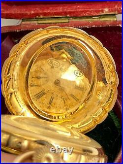 Rare Imperial Russian Princess Feodorovna Pocket watch 14k Gold 56 for Merit 18c