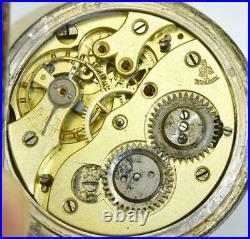 Rare Imperial Russian silver, gold&Niello award Aeby&Landry hunter pocket watch