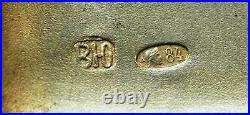 Rare Russian Imperial Silver + Gold Cigarette Case, 1900