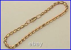 Royal Vintage Original Russian Solid Rose Gold 585 14K Bracelet Chain 19 cm
