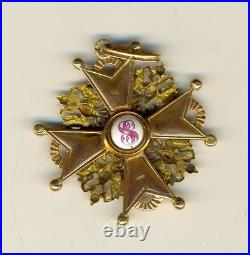 Russian Imperial Antique badge medal Order St. Stanislav Gold (1493a)