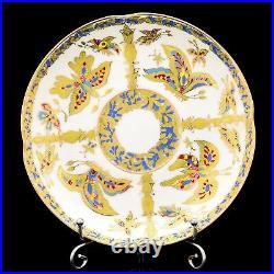 Russian Imperial Lomonosov Porcelain Bone Tea Set Fabulous Butterflies 6/20 Gold