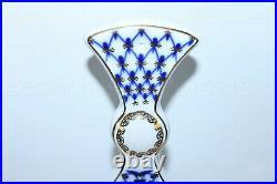 Russian Imperial Lomonosov Porcelain Cheese board Cobalt Net 22k Gold Lfz Russia