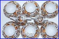 Russian Imperial Lomonosov Porcelain Tea Set My Garden 6/20 Russia 22k gold