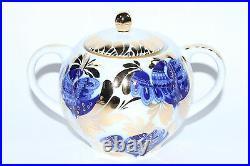 Russian Imperial Lomonosov Porcelain Tea set service Golden Garden 6/20 person