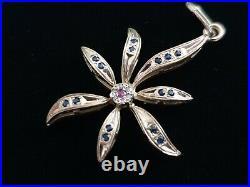 TILLANDER Imperial Russian 56 Gold Brooch Pendant Pin FABERGE Era Tsar Romanov