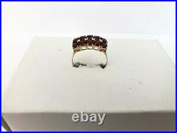 Vintage Rare Imperial Russian 14K Gold 56 Garnet Ring FA signed