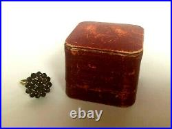 Vintage Rare Imperial Russian 56 14k Gold Garnet Ladies Ring with Box