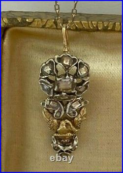WOW Imperial Russian Faberge 18k 72 Gold & Silver Diamonds Pendant Author's